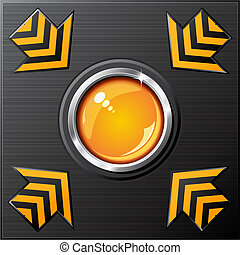 vector glossy button