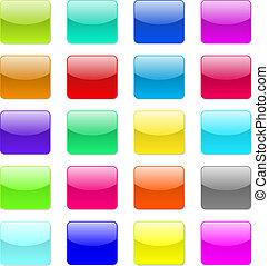 Vector glossy button icon.