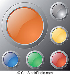 Vector glossy buttons for web applications.