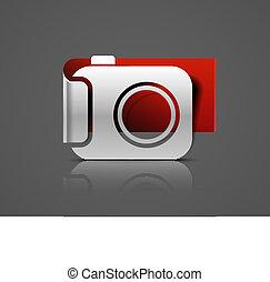 vector glossy camera web icon