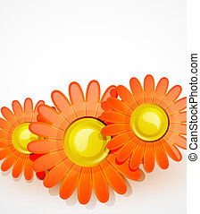 Vector glossy flowers