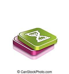 glossy hourglass web icon
