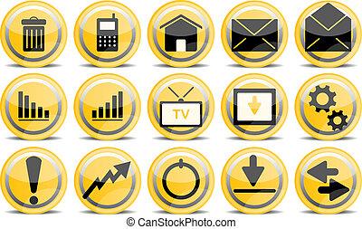 Vector glossy icon set