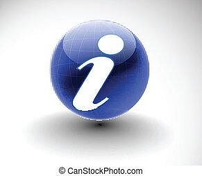 glossy information web icon