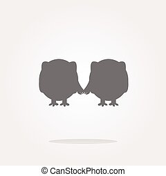 vector Glossy isolated website and internet web icon with owl symbol. Web Icon Art. Graphic Icon Drawing