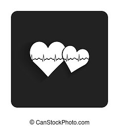 Vector glossy medical web icon design element.