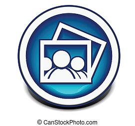 photo web icon - vector glossy photo web icon design...
