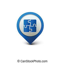 puzzle web icon - vector glossy puzzle web icon design...