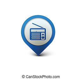radio web icon - vector glossy radio web icon design...