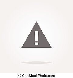 vector glossy web button with attention warning sign