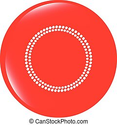 vector glossy web buttons with abstract circles