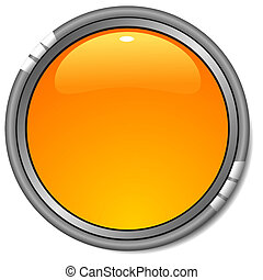 Vector glossy yellow button