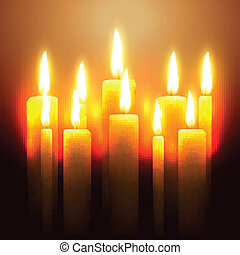 vector glowing candle design illustration