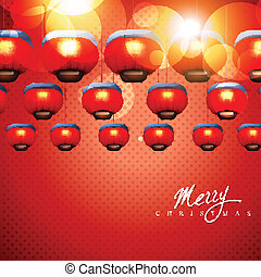 glowing christmas lamps - vector glowing christmas lamps on ...