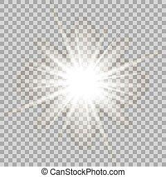 Vector glowing light effect .