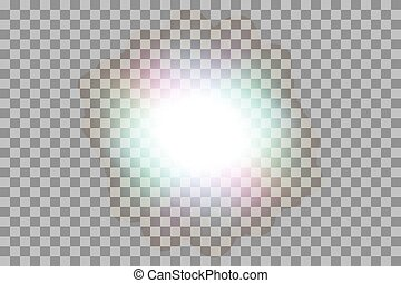 Vector glowing light effect.
