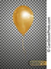 Vector gold air balloon . Eps10.