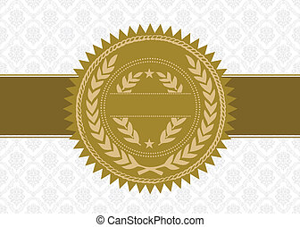 Vector Gold Award Seal and Background