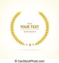 Vector gold award wreaths - Vector illustration gold award...