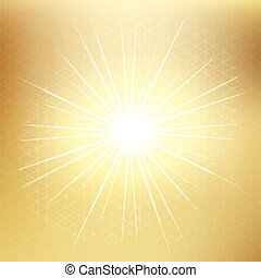 Vector gold blurred gradient style background. triangle pattern abstract smooth illustration, with Sparkling golden