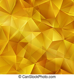 Vector Gold bright background with triangle shapes