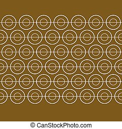 Vector Gold Circle Banner Pattern