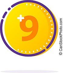 Vector Gold Coin Icon.