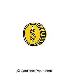 Vector gold coin icon