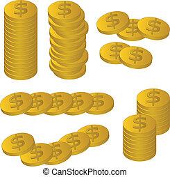 vector gold coins