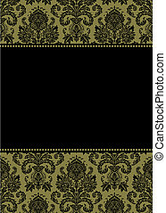 Vector Gold Damask Frame
