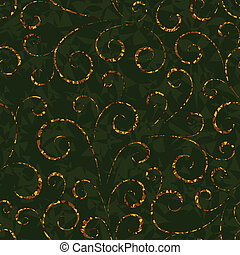 gold floral abstract seamless background pattern