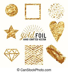 Vector Gold Foil Effect Set