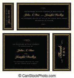 Vector Gold Formal Frame Set