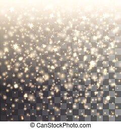gold glitter - Vector gold glitter on transparent...