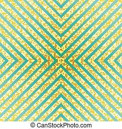 Vector Gold Glittering Seamless Lines Pattern On Mint Background Trendy Glitter Stripe
