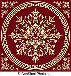 vector gold Greek ornament Meander