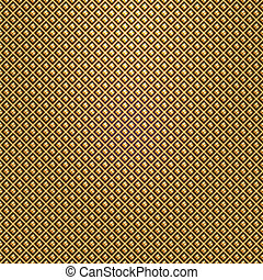 Vector gold lattice on black background