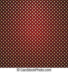 Vector gold lattice on red background