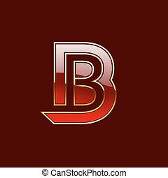 Vector Gold Letter B Shape Logo Element - Vector Gold,...