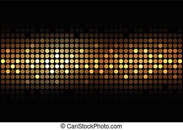 gold lights on black background