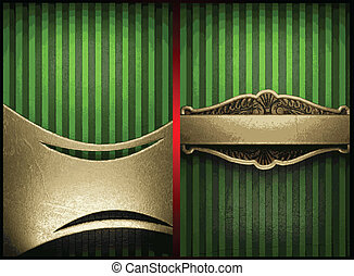 vector gold on green background