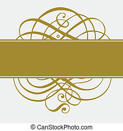 Vector Gold Ornament and Pattern - Vector ornate gold swirl...