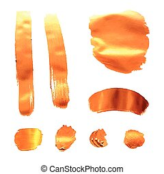 Vector Gold Paint Strokes