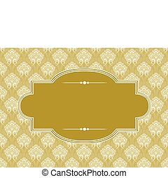 Vector Gold Pattern and Frame