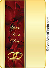 Vector gold & red background with r