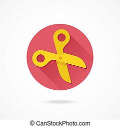 Vector Gold Scissors Icon
