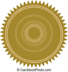 Detailed vector gold seal. Easy to edit.