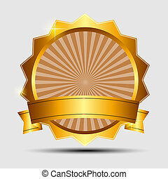 Vector gold sign, label template