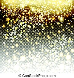 Vector golden and silver glitter particles background effect...