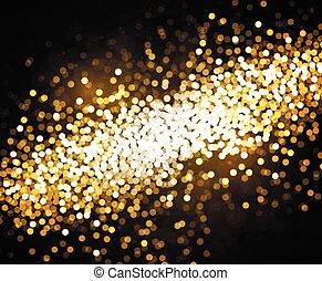 Vector golden background Bokeh